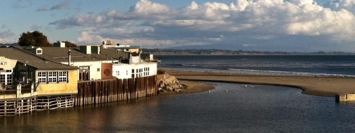 Soquel Creek at Capitola Beach