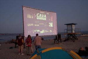 Movies at the Beach Screen